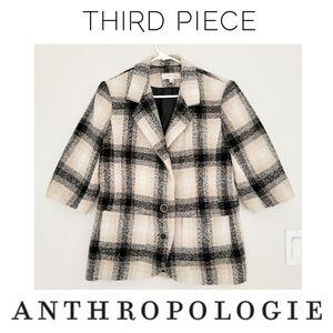 Anthropologie Third Piece Plaid Wool Blazer